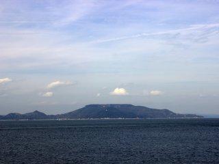 Teshima far in the distance
