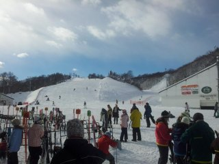 There are 9 lifts and 16 courses at the top of the gondola at GALA, so something for everyone. It is a popular destination for day trippers from Tokyo many of whom are taking advantage of the great day return packages which you can get from many travel ag