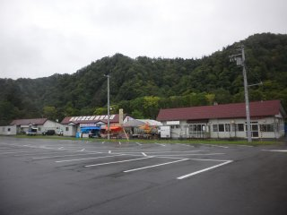 Local products sold at the parking lot