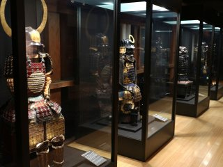 The gallery of samurai armors