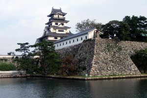Imabari castle and its seawater moat