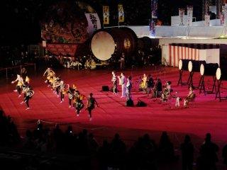 Music and dance performances during Furusato Matsuri