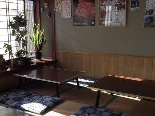 The tatami dining area