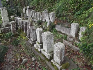 Ancient, ancient stones on the hillside