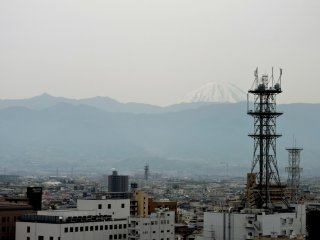 You can see Mount Fuji