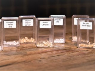 A key ingredient: different kinds of rice, polished and unpolished