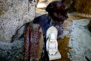 Some of the interesting statuary along the trails around the temple