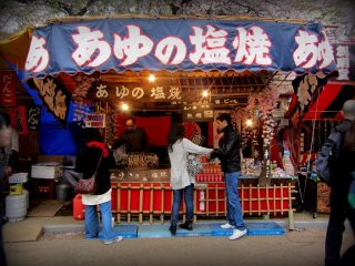 Many of the booths sell very traditional foods at reasonable prices