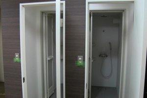 Shower rooms on the main floor