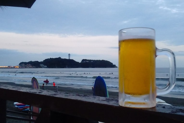 A Frozen Beer on Kugenuma Beach