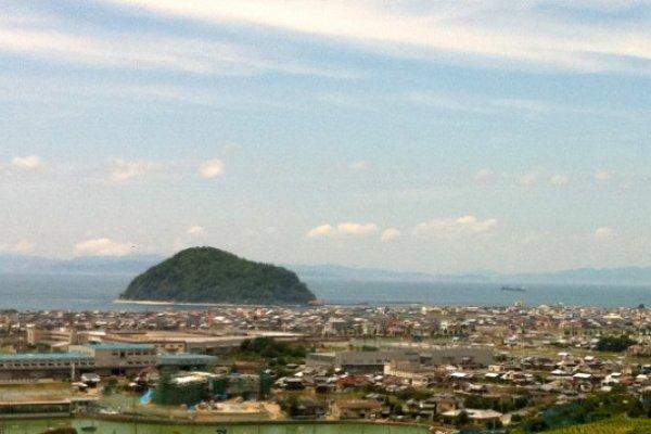 Kashima dominates the coast north of Matsuyama