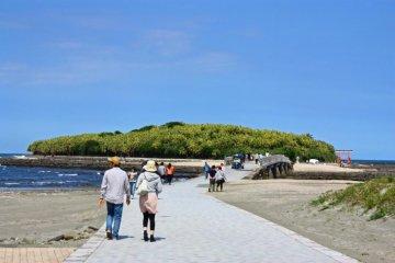 หินบนเกาะอะโอะชิมะ