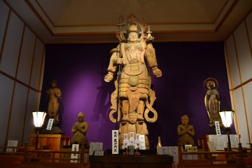 Giant Wooden Statue of Bishamonten