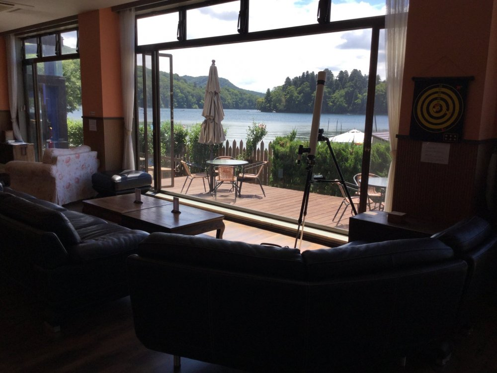 Sink into the lobby chairs and enjoy the view of the lake any time of the day.