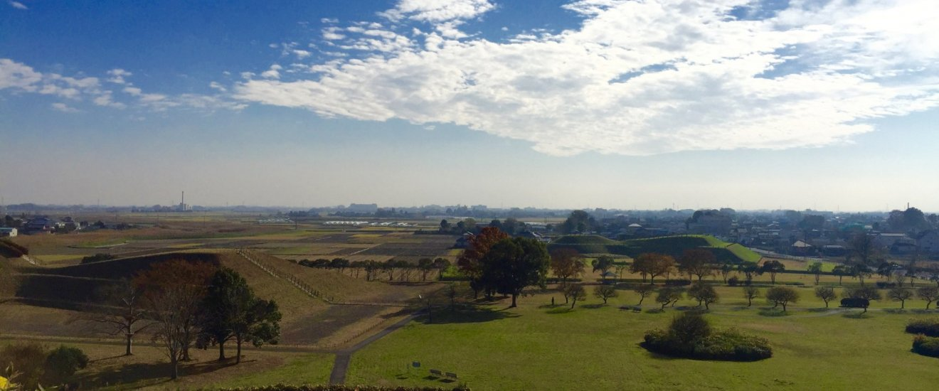 A view of the countryside from the Inariyama Tumulus