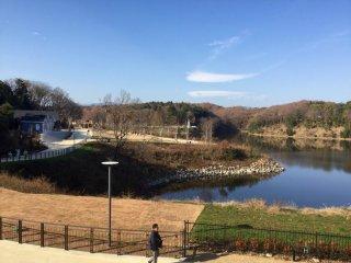 Lake Miyazawa is the centerpiece of the village.