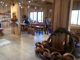 The wood workshop.