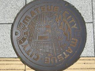 Matsue City manhole cover