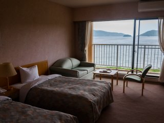 Most of the rooms are western style and all have ensuites, balconies and great ocean views.