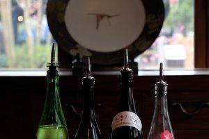 Sake tasting at Ishikawa Brewery.