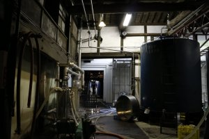 Sake tour at Ozawa Brewery.