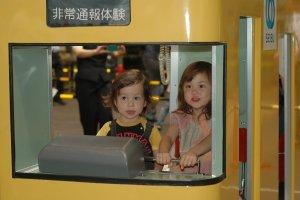Only at the Seibu Train Festa, ultra-cute kid-sized trains.