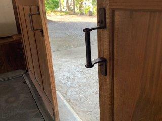 True Japanese doors don't swing, they slide