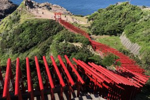 Picturesque view of Motonosumi shrine