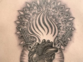 Mo's black ink work is equally as as