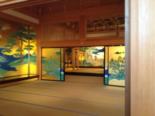 Inside the Hon-Maru Goten Great Hall accessed from the keep's courtyard.