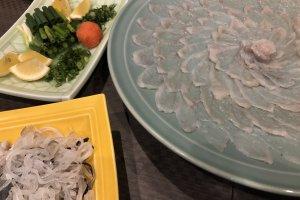 Fugu sashimi, such an art form