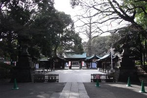 The grounds of the shrine complex