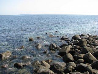 Stony coast line