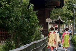 Passeando junto ao Santuário de Yasuka