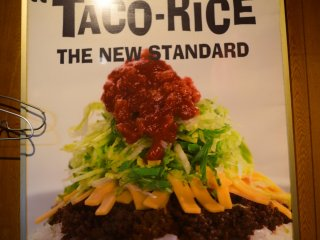 Delicious taco rice is the star of the menu