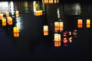 Lanterns are said to ferry the souls of the dead back to the afterlife once Obon is over
