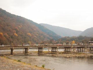 Iconic bridge in Arashiyama: the Togetsukyō Bridge