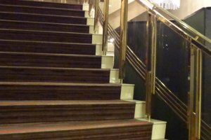 Stairway in the lobby.