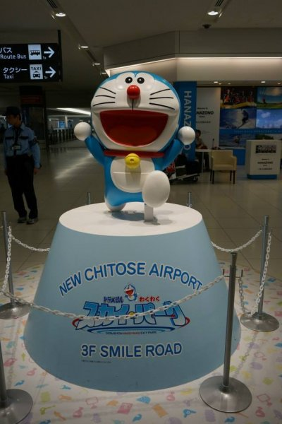 โดเรมอนคอยต้อนรับทุกคนสู่สนามบินNew Chitose