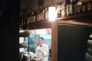 The Sake bars take on a different hue in the evening