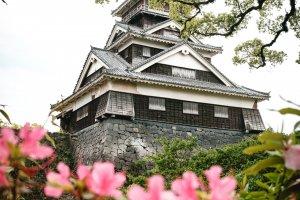 อีกด้านหนึ่งปราสาทคุมะโมะโตะ