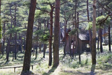 <p>Some of the cabins (&quot;kevins&quot;&nbsp;if you like) available for the day or a night&#39;s stay</p>