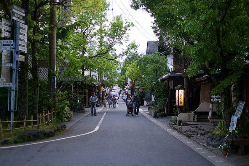 On the road to Yufuin Oita