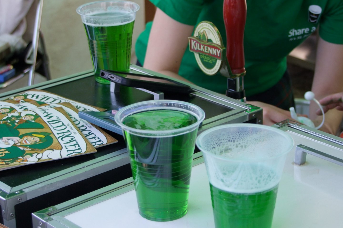 Green beer is a St. Patrick's Day tradition