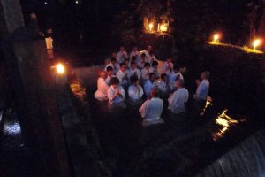 Baptism in Okunoin at Koyasan. Talk about being immersed in the culture! No pun intended!