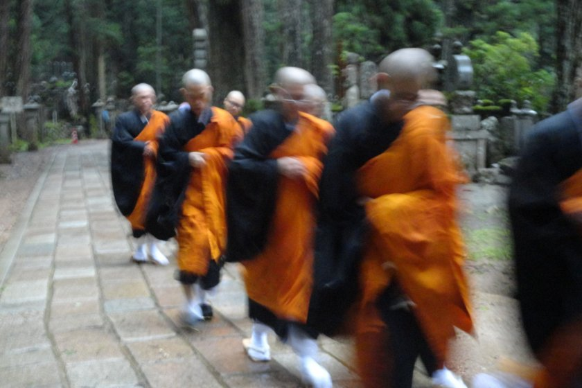 Monks live here so expect to see them on your travels