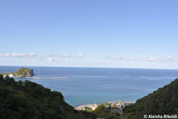 View of the Sea Japan from the camp ground