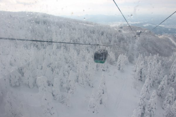 Ropeway to top of Mt.Zao