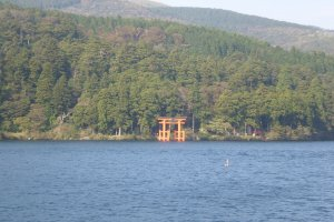 Hakone Shrine from the boat