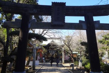 Okutsu-no-miya is the closest shrine to Iwaya, the island caves where ancient monks once practiced.